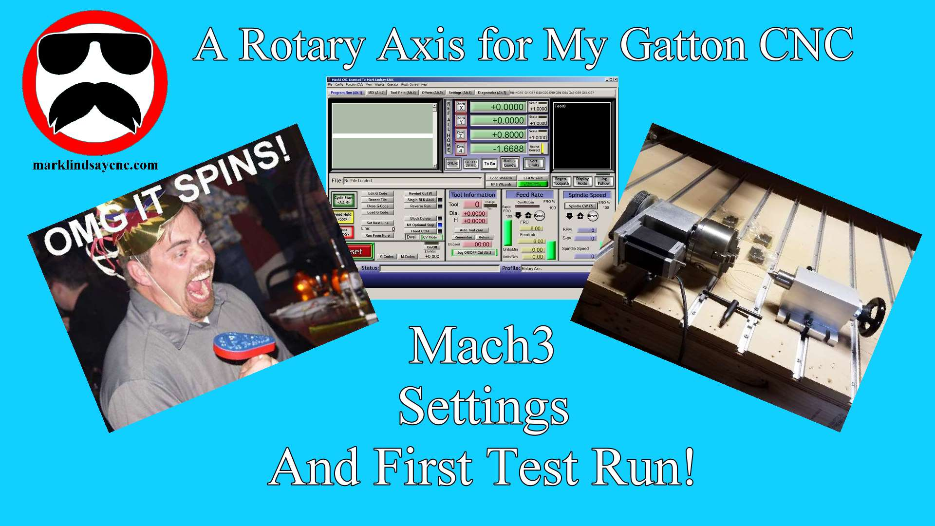 Mach3 Settings for the Rotary Axis