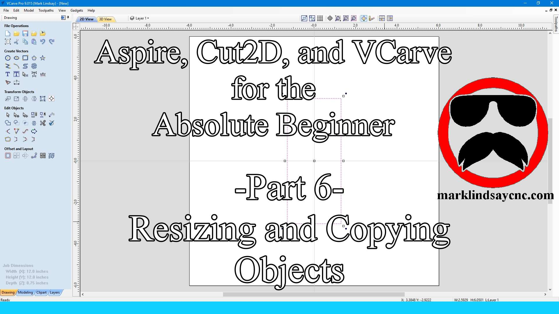 Vectric Software for the Absolute Beginner – Part 6